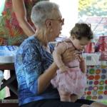 Members Debbie and baby Elizabeth