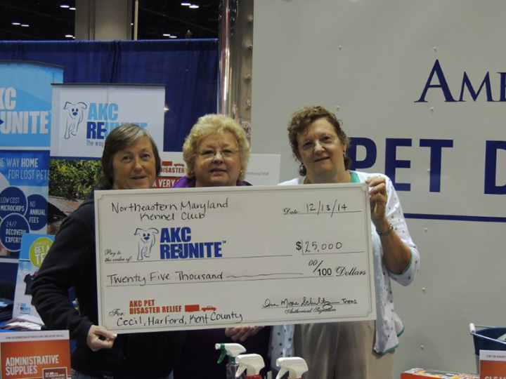 $25,000.00 check for AKC Reunite.