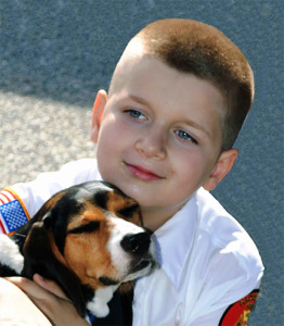 Boy and his Beagle.
