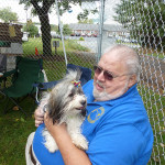 Member Ed Heydt with his puppy dog.