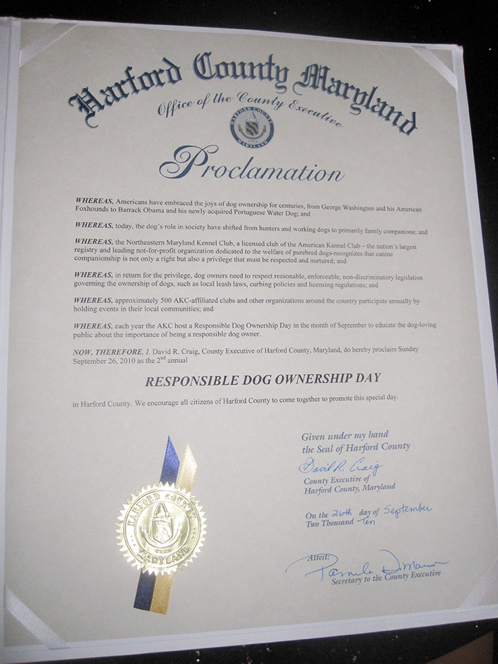 RDOD Governor's Proclamation of RDO Day.