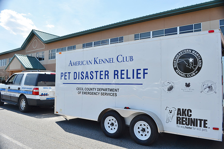 AKC Reunite Pet Disaster Relief trailer.