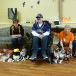 Debra, Guy and Carol at the Belair Nursing Home Halloween Parade.