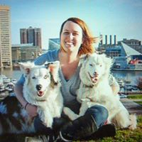Amanda with Pups.